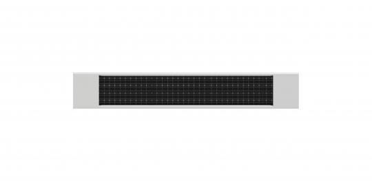 Solar panel charger for all heicko DC tubular motors, white 55x320 mm (1 ST)