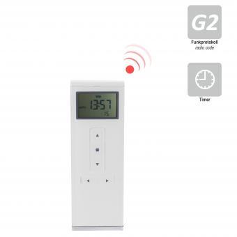 15-Kanal Handfunksender mit Display, inkl. Batterie, 433,92 MHz, Timerfunktion, weiß (1 ST)