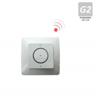 1-K Wand-/ Handfunksender inkl. Batterie, 433,92 MHz, weiß mit herausnehmbarem Sender, Funkprotokoll G2 (1 ST)