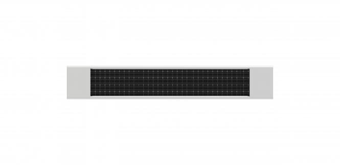 Solarpanel-Ladegerät für alle heicko Akkumotoren, weiß