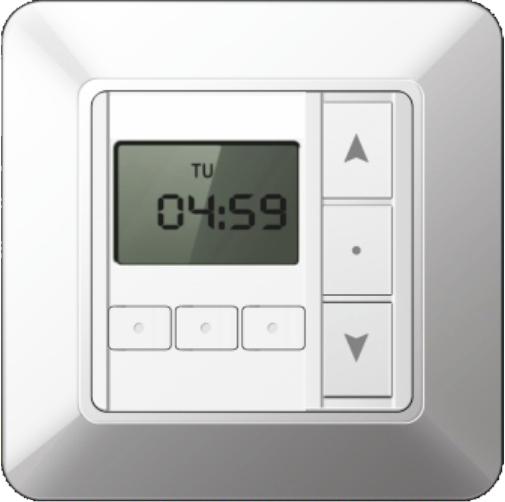 Tastenschalter mit Zeitschaltuhr, Unterputz, 230 V/AC, weiß, RAL 9003