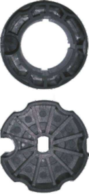 Adapter-Set, 78 mm Rundwelle, für Motoren mit Ø 45 mm